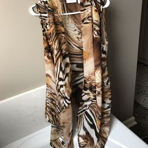 Gorgeous sleeveless kimono by Chico's!